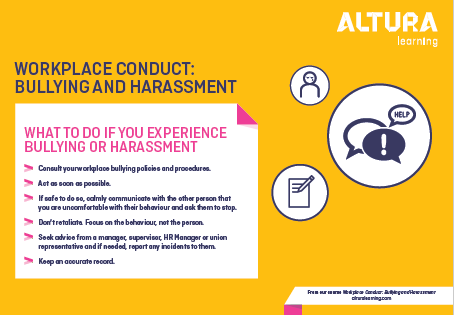 Workplace Conduct: Bullying and Harassment