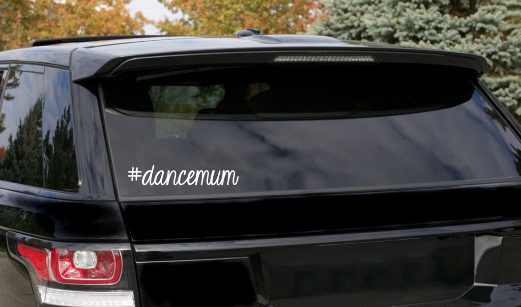 #dancemum car decal