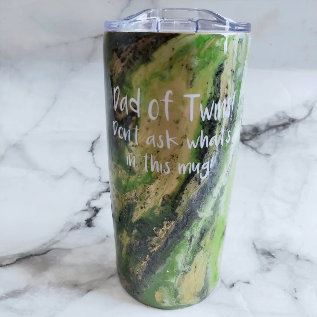 Paint dipped Your design here travel coffee tumbler
