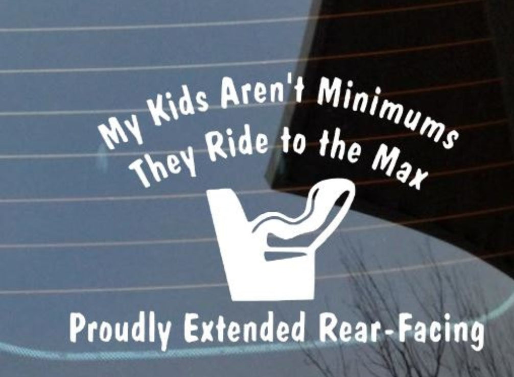 Extended Rear Facing Car Decal
