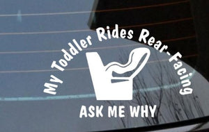 Toddler Extended Rear Facing Car Decal