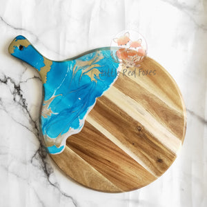 Round Resin art chopping board