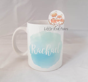 Personalised Watercolour Coffee Mug