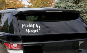 Harry Potter mischief managed themed Car Decal