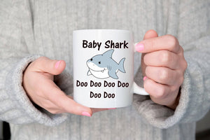 Baby shark youtube song mug