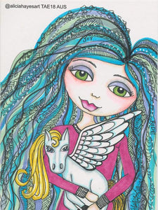 @aliciahayesart 'Joy' postcard