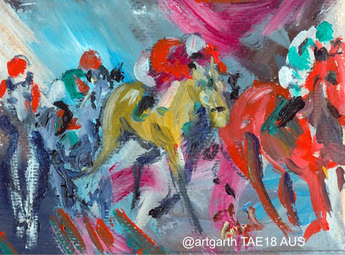 @artgarth 'The Race of Dreams' postcard