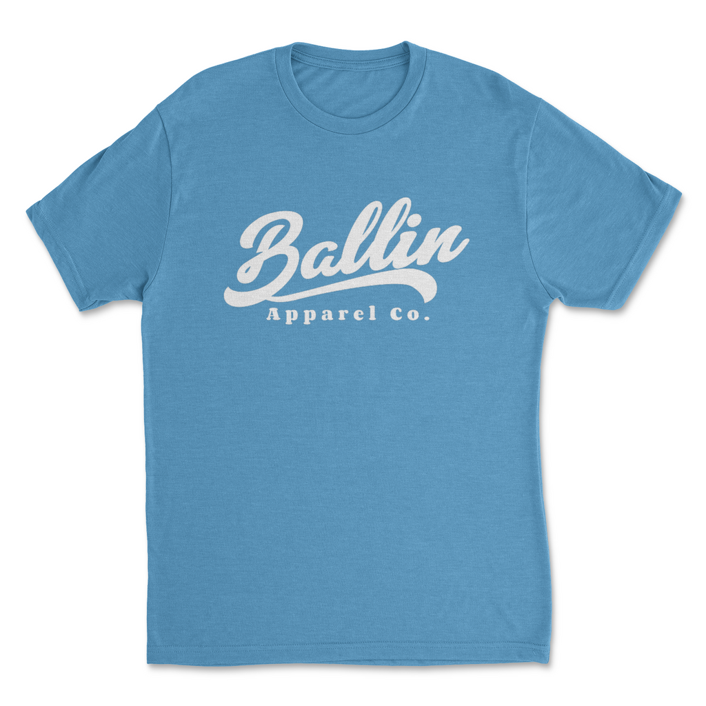 Ballin Apparel Flow Vintage Turquoise Men's Tri-Blend Crew