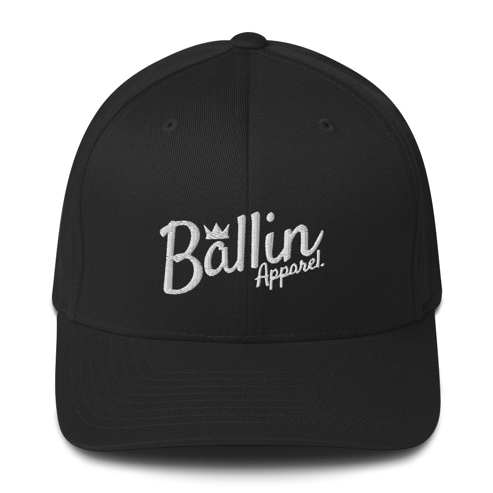 Ballin Apparel Structured Twill Cap - Embroidered Front & Back