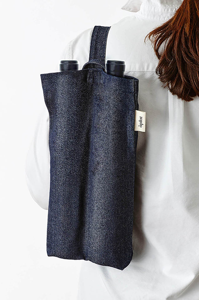 VIN VERTICAL TOTE DENIM