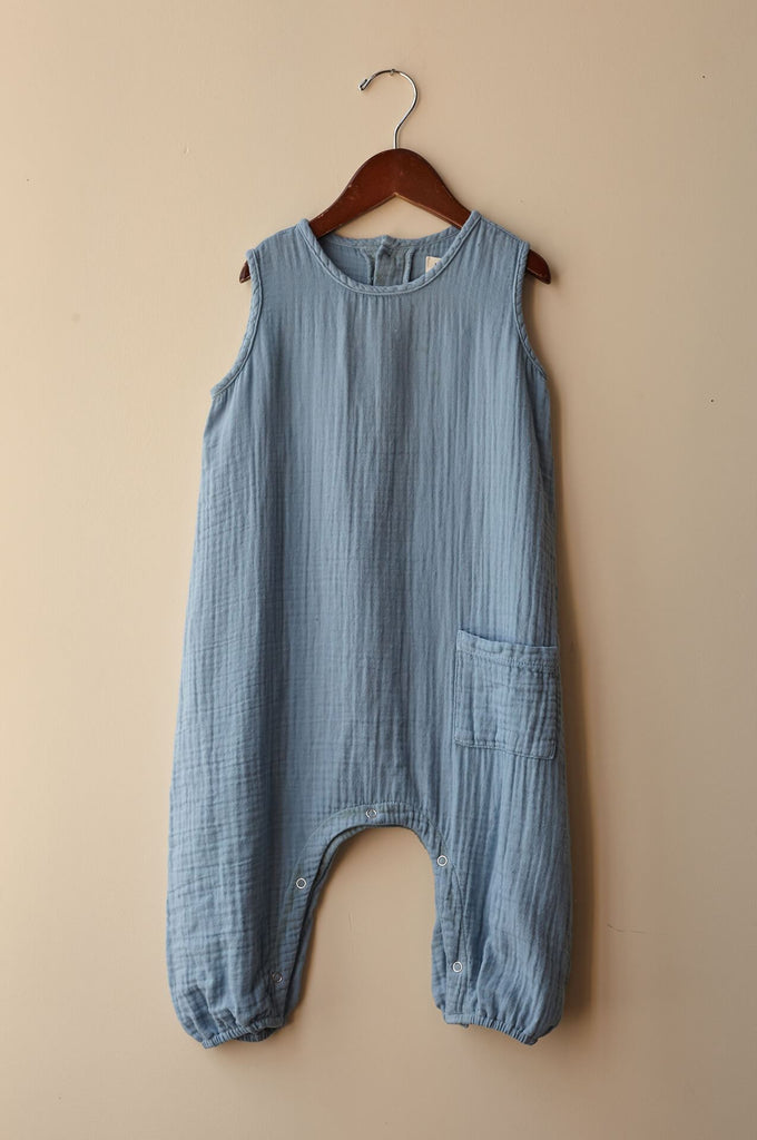 boy+girl baby jumper cerulean