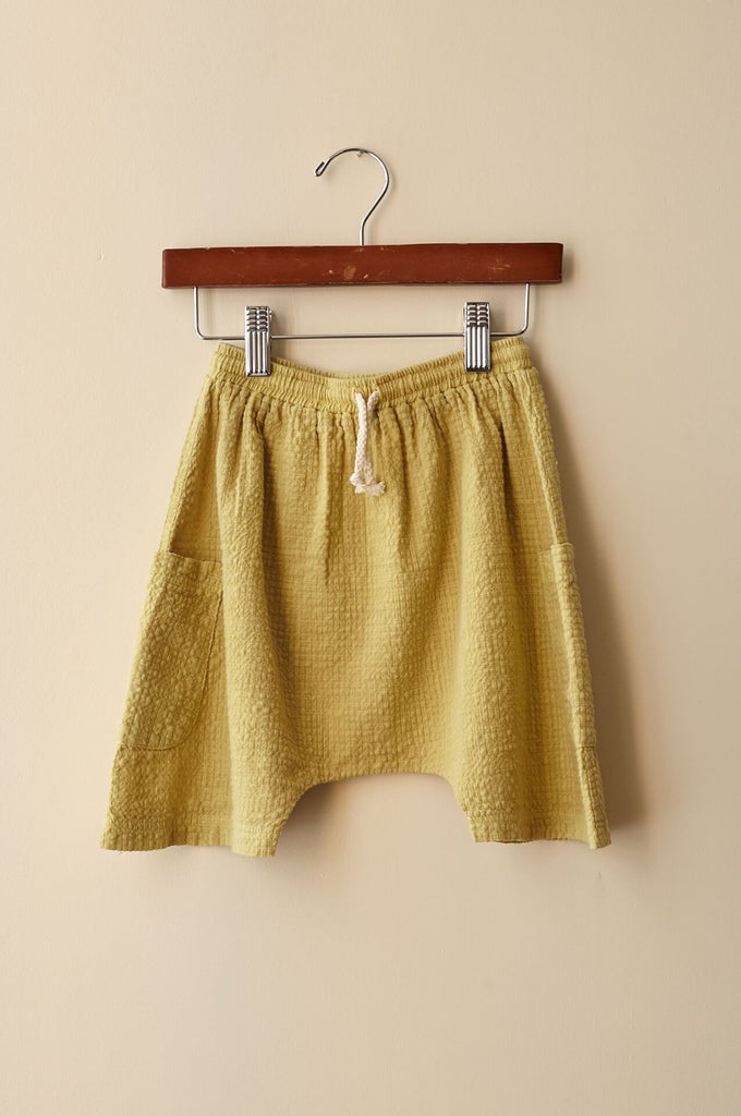 boy+girl basketball shorts mustard