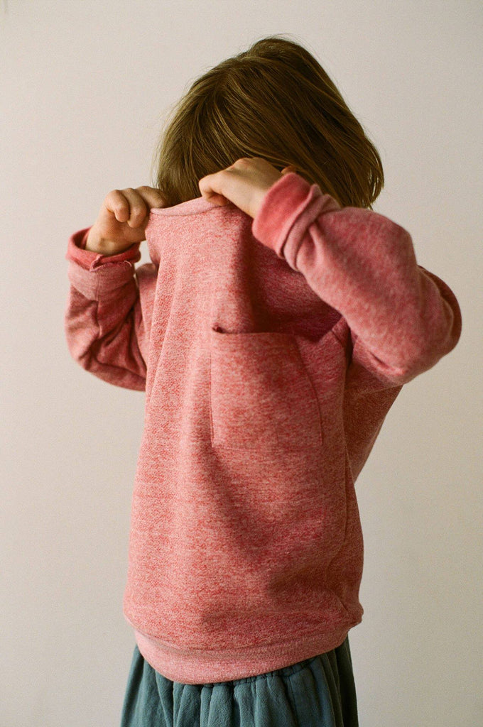 boy+girl crew pullover heather red