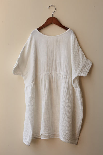 boy+girl una dress white