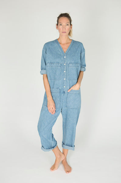 Ilana Kohn TUCK COVERALL DENIM