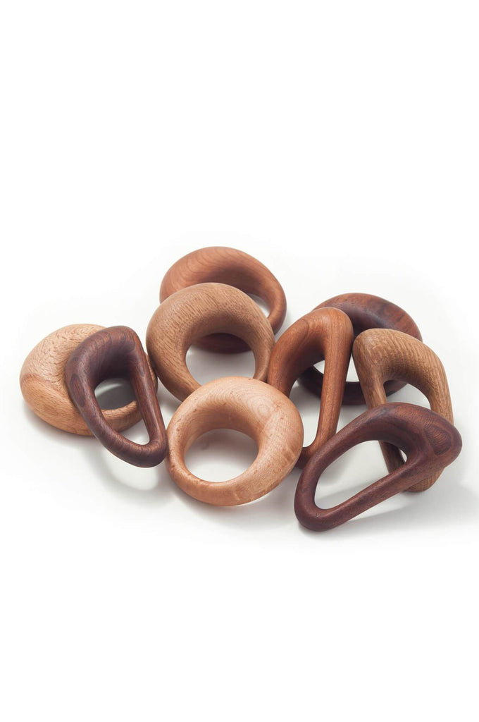 Walnut Carabiner Rattle