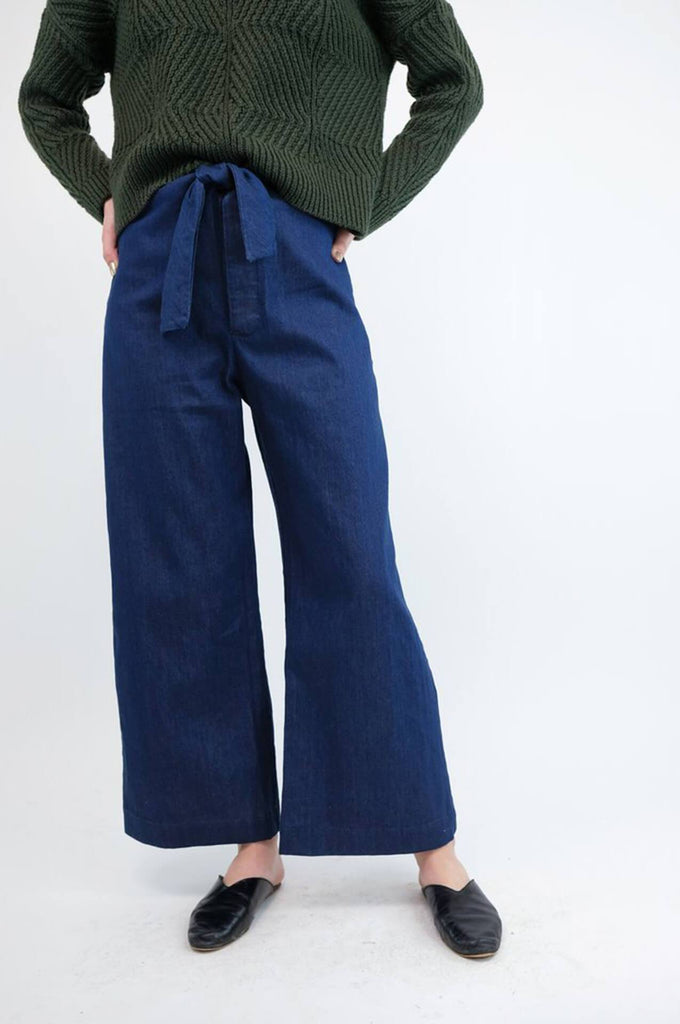 KNOTTED SAILOR PANT VINTAGE BLUE DENIM