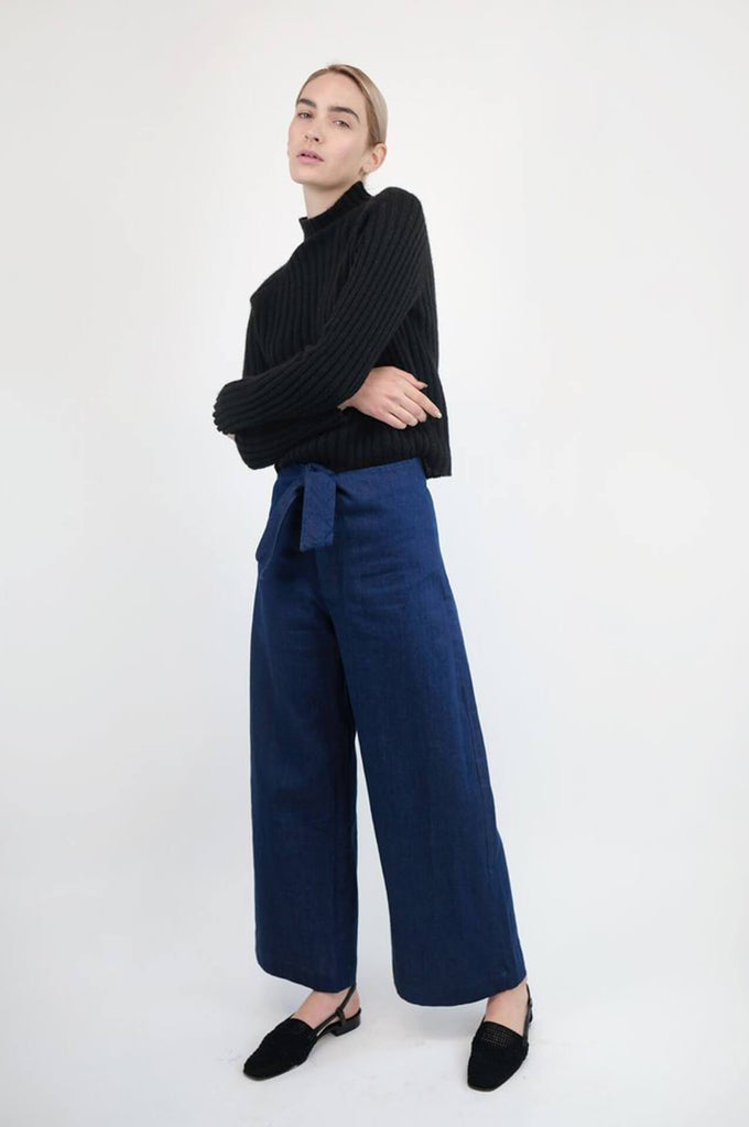 Micaela Greg KNOTTED SAILOR PANT VINTAGE BLUE DENIM
