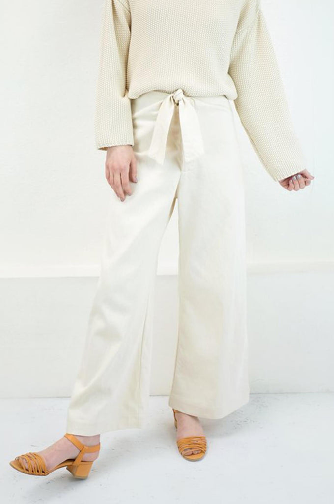 KNOTTED SAILOR PANT CREAM
