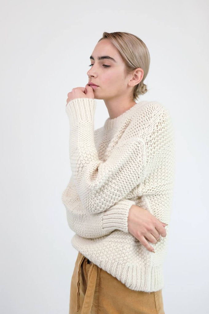 Micaela Greg PLY KNIT PULLOVER CREAM