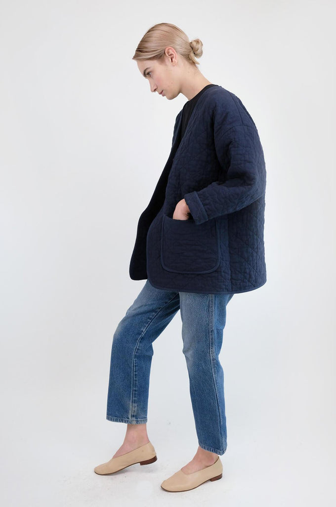 QUILTED JACKET MIDNIGHT BLUE