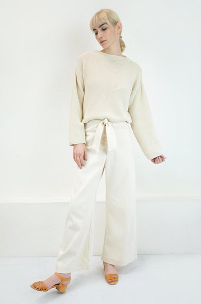 Micaela Greg KNOTTED SAILOR PANT CREAM