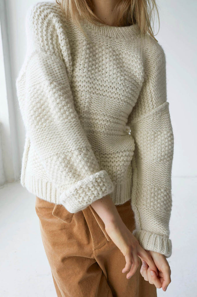 PLY KNIT PULLOVER CREAM
