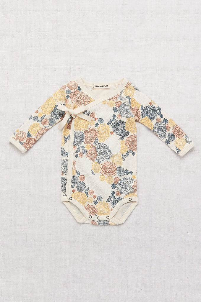Misha & Puff CHRYSANTHEMUM CROSS OVER ONESIE MULTI