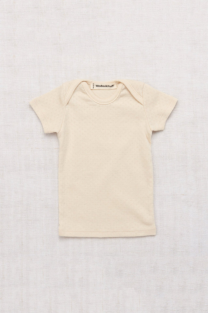 Misha & Puff POINTELLE LAPPED TEE NATURAL