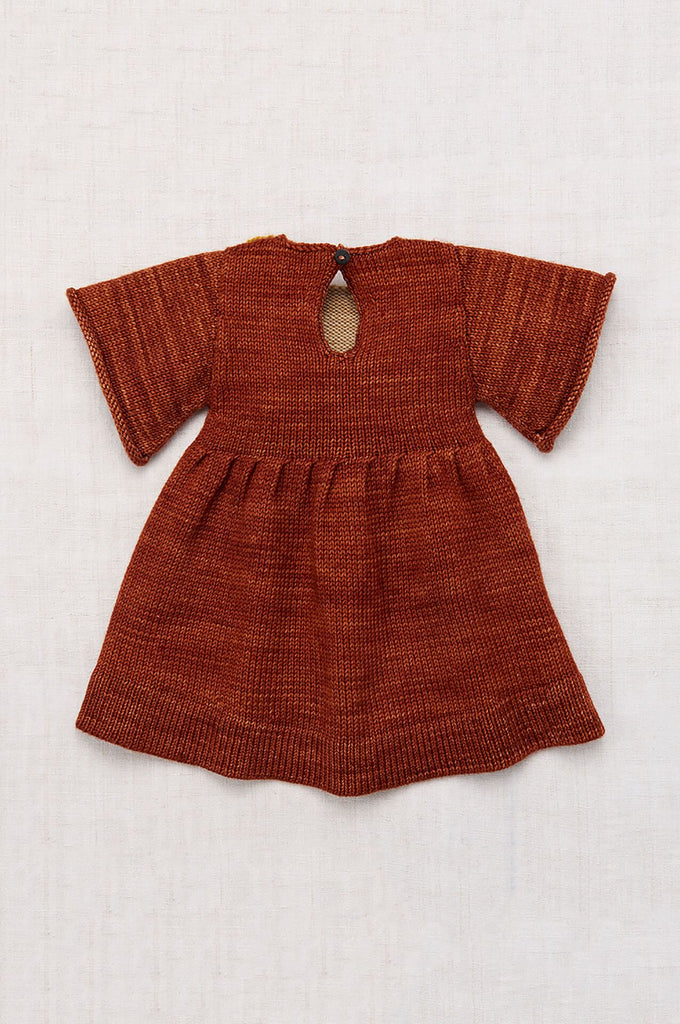 Misha & Puff SCALLOP BIB DRESS TERRACOTTA