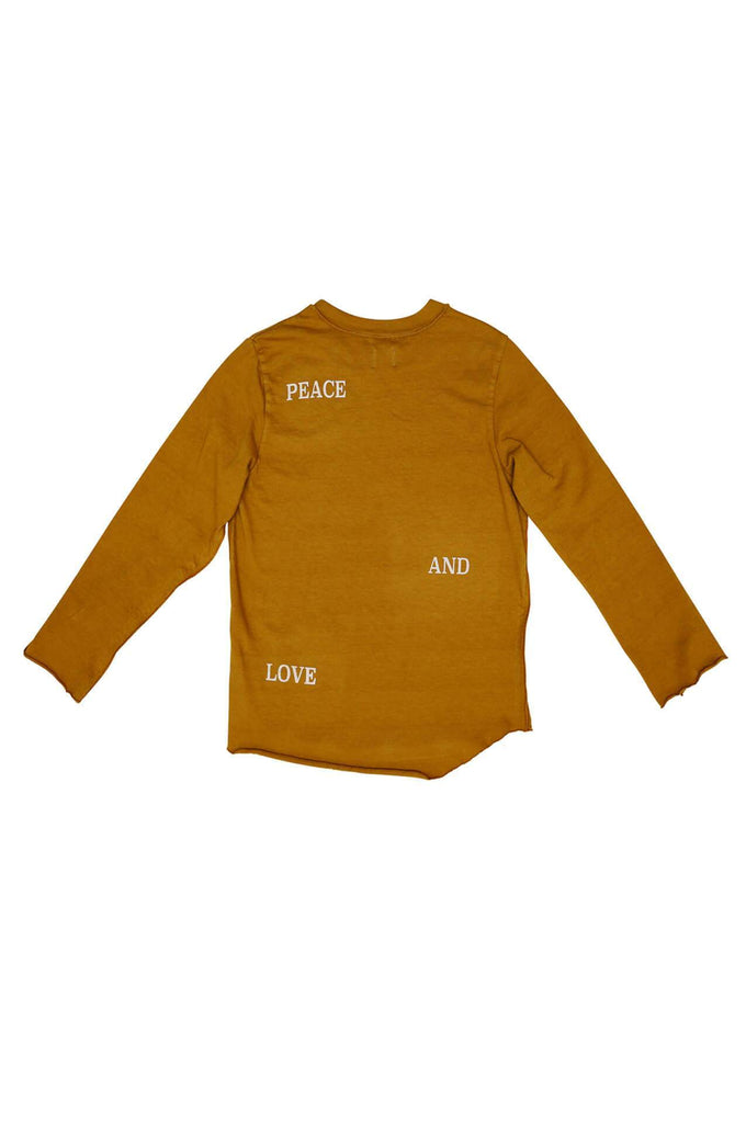Nico Nico PEACE + LOVE LONG SLEEVE MUSTARD