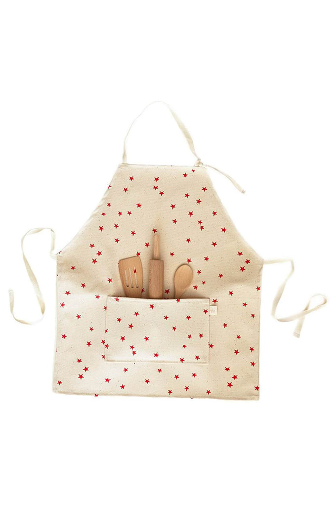 OW Brooklyn KIDS APRON SET RED STAR