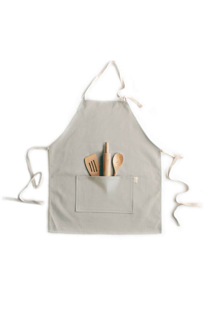 OW Brooklyn KIDS APRON SET TAUPE BRUSHED TWILL