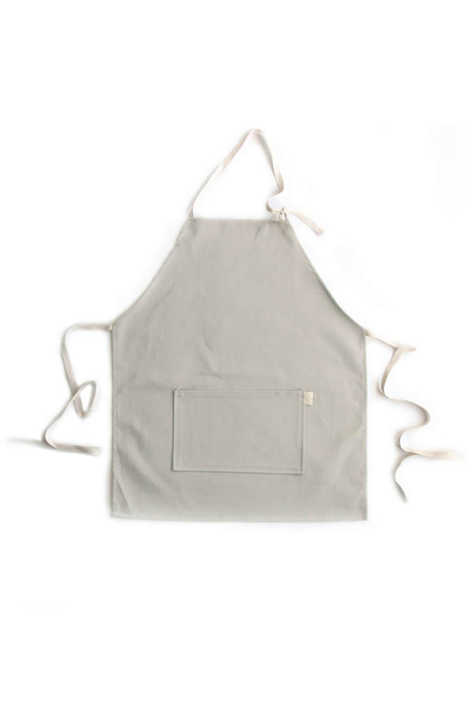 KIDS APRON SET TAUPE BRUSHED TWILL
