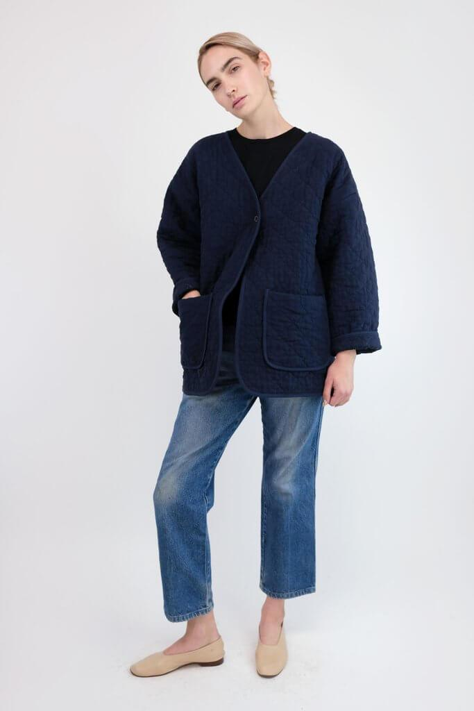Micaela Greg QUILTED JACKET MIDNIGHT BLUE