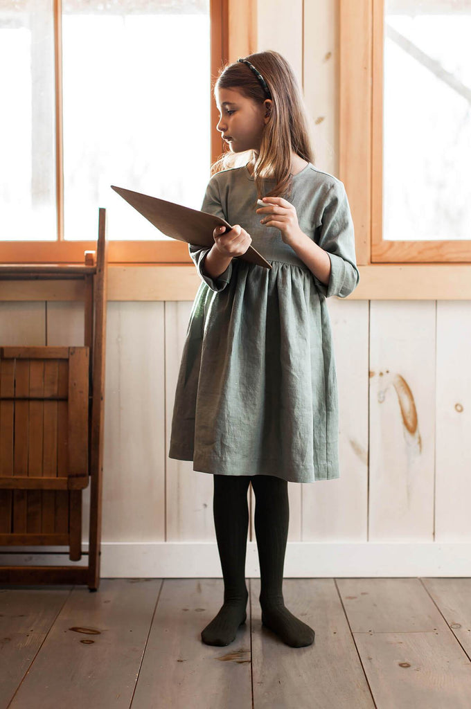 Soor Ploom JOSIE DRESS JUNIPER LINEN