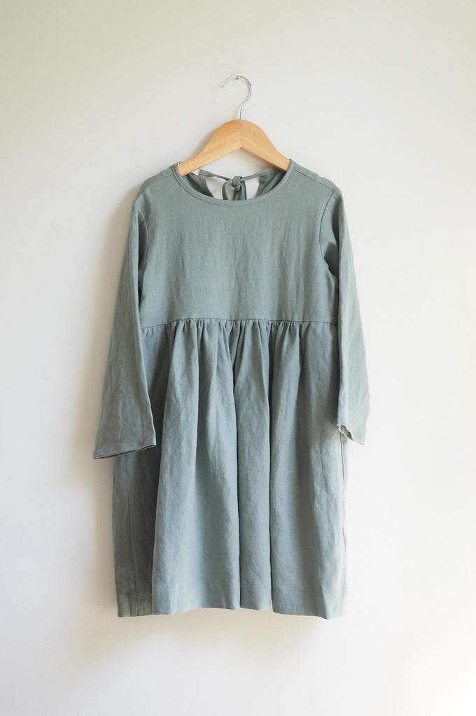 JOSIE DRESS JUNIPER LINEN