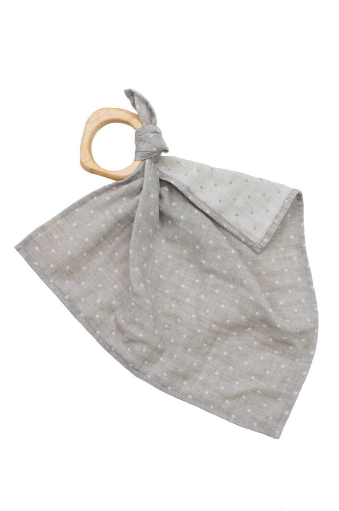 Willaby dotted teether blankie / grey