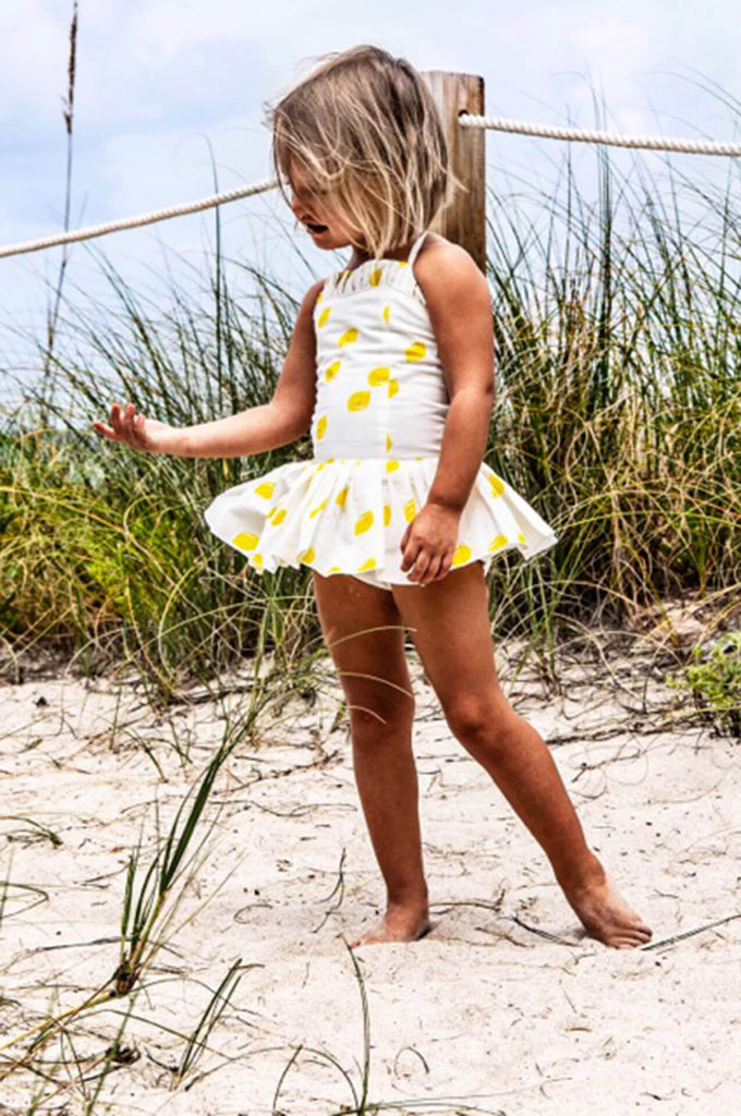 LEMON SWIMSUIT/SUNSUIT