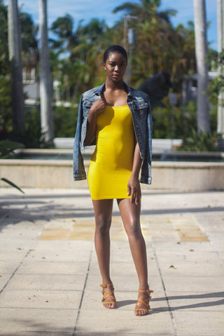 Yellow Mustard mini dress