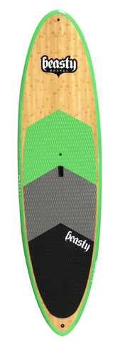 10'0 'Raw' All Round Green Double Bamboo SUP