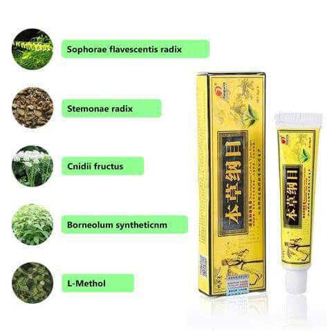 Ingredients of Psoriasis and Eczema Herbal Cream