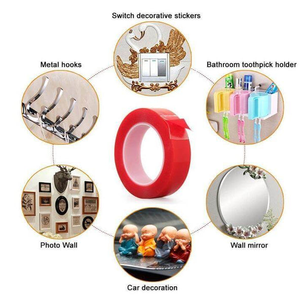 Super Strength Double Sided Adhesive Tape (BUY 2 FREE 1, BUY 3 FREE 2, BUY 5 FREE 5)