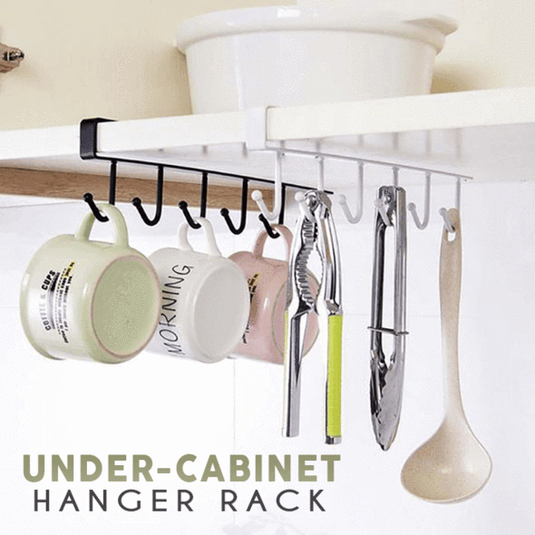 Under Cabinet Hanging Rack (6 Hooks)