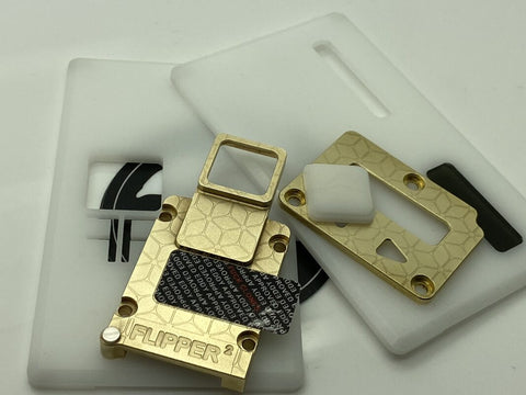 FLIPPER2 Brass/Aluminum Inners & Panel Set