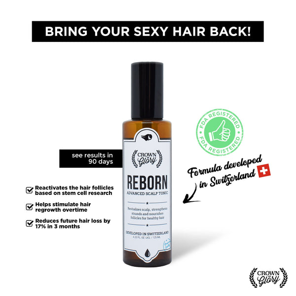 Crown & Glory Reborn Advanced Scalp Tonic (Hair Grower) - HairFood Co. Worldwide
