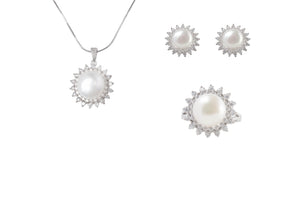 Sterling Silver CZ FWP Jewelry Set