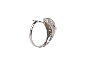 Sterling Silver CZ Dolophin Ring
