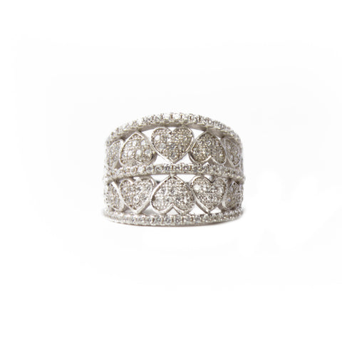 Sterling Silver CZ Statement Ring