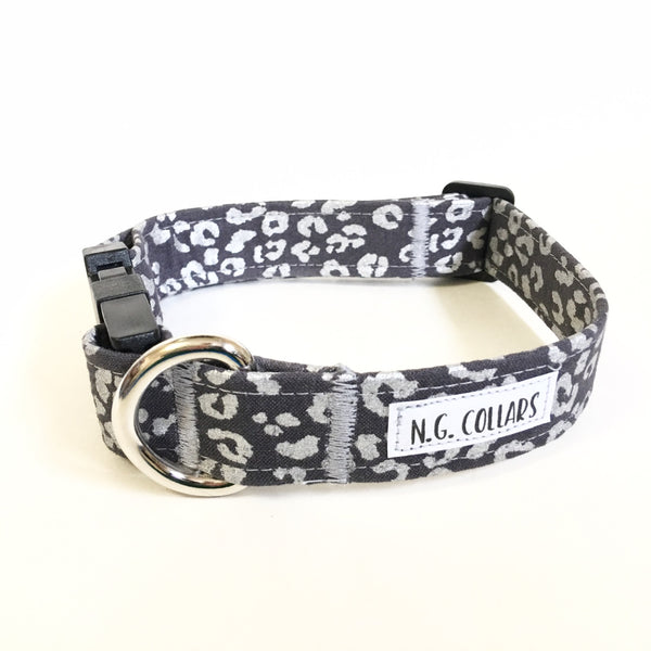 Silver Cheetah Buckle Collar - Small - N.G. Collars
